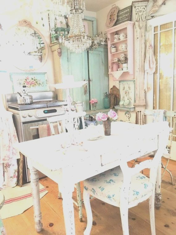 Vintage Rosa Kandelaber Shabby Chic Prairie Cottage Chic