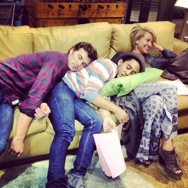 Chelsea Kane , Tahj Mowry & Derek Theler... Love this show! BABY DADDY