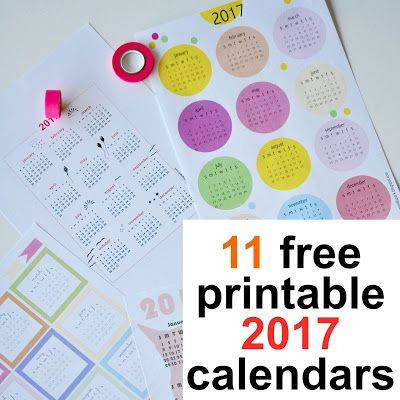 MeinLilaPark: Free printable 2017 calendars - round-up