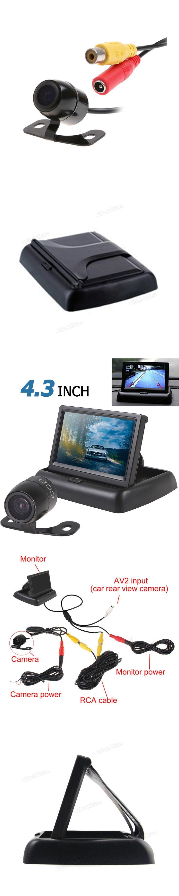 CAR HORIZON Hot Sale 4.3 Inch Car Monitor TFT LCD Car Rear View Monitor + Waterproof 420 TVL 18mm Lens Reverse Parking Camera