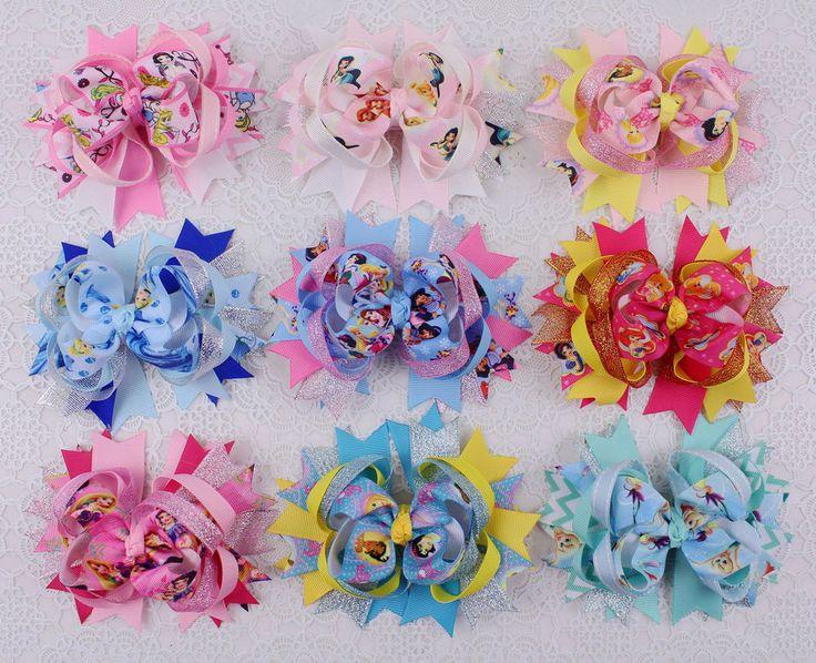 Nuova Cinderella 1pz ragazza 12.7cm capelli fiocchi Boutique festa per 2182-2190 #Handmade