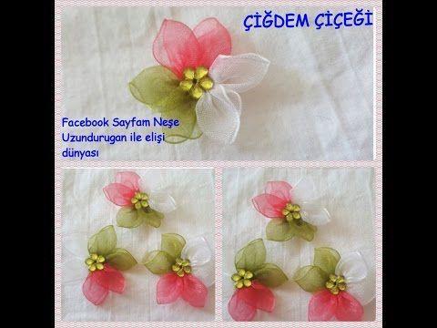 Organze Kurdele oyaları&ÇİĞDEM ÇİÇEĞİ&Forex flower,health flower,holiday flower,Taksim summer flower - YouTube