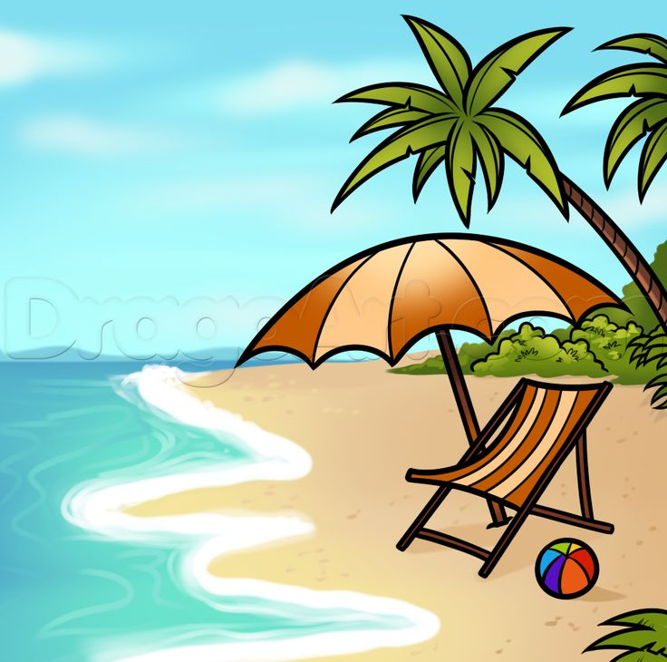 How to Draw a Beach Scene, Step by Step, Other, Landmarks & Places, FREE Online Drawing Tutorial, Added by Dawn, June 3, 2014, 5:06:43 pm