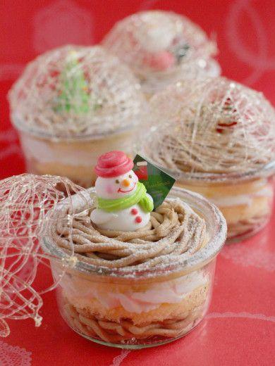 スノードームのモンブランケーキ | お菓子・パンのレシピや作り方【corecle*コレクル】