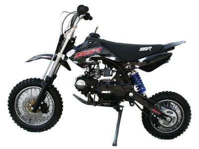 "DIR006 110cc Dirt Bike Free Shipping, Semi Automatic Transmission, Wavy Rotor Disc Brakes, Front/Rear 12""/10"" Wheels $649.00"
