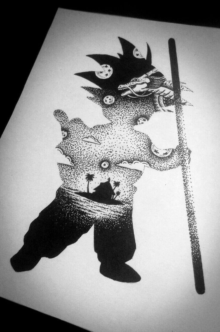 (Goku) by: Túlio Vieira - Instagram: @nohugsttt | Tattoo ...