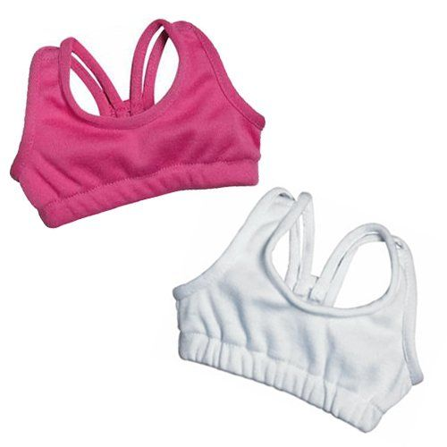 Sports Bra Doll Set, Fits 18 Inch American Girl Dolls, Pink & White Sophia's http://www.amazon.com/dp/B004MTU8N4/ref=cm_sw_r_pi_dp_dCmBwb0VB9C2G