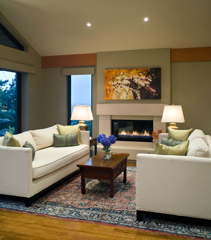 Perfect Style Living Room Design With Wooden Floor Also White Wall Paint Color And Hidden