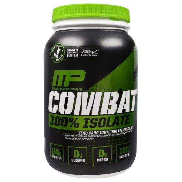 sports-fitness-athletic: Muscle Pharm, Combat 100% Isolate, Vanilla, 32 oz ...