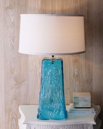 """Blue Wave"" Table Lamp at Horchow."