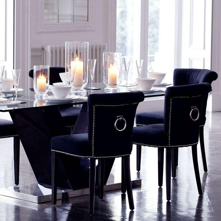 #Eichholtz Key Largo Chair - Black Cashmere.