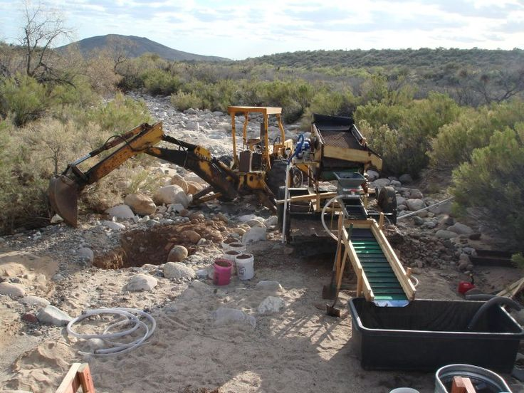How to start a small gold placer mining operation Around