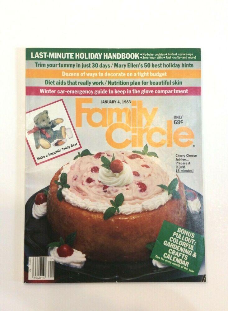 Family Circle 1983 Magazine Gardening Crafts Calendar Holiday