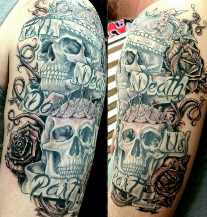 182 best images about my tat on pinterest discover best for King and queen skull tattoos