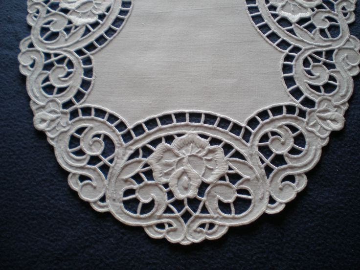 Cutwork Embroidery Doily - Close-up