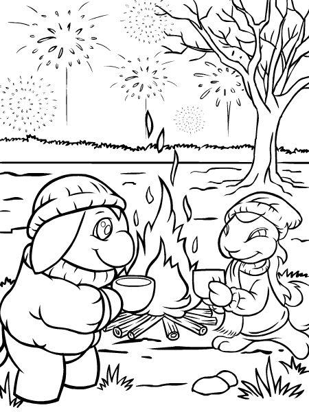Bonfire Night Colouring Page 3