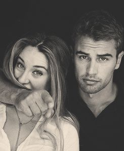 Theo James and Shailene Woodley!  Can't wait to see Divergent March 2014!