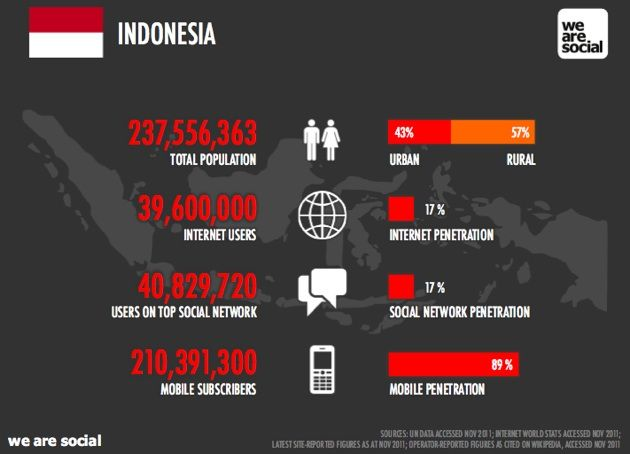 Social Stats for Indonesia 2011