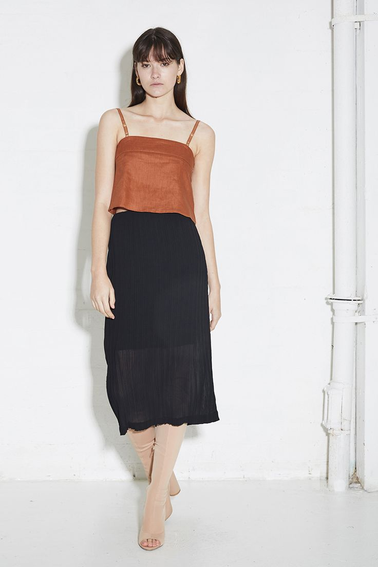 THIRD FORM SPRING 16 'HOLD TIGHT CAMI'  #thirdform #fashion #streetstyle #style #minimal #trend #minimalfashion #rust