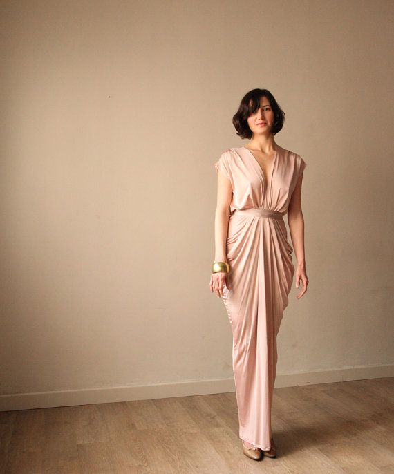 Hey, I found this really awesome Etsy listing at https://www.etsy.com/listing/97743299/pink-champagne-evening-dress-bridesmaid