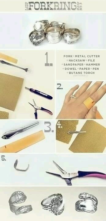 How to make spoon rings!