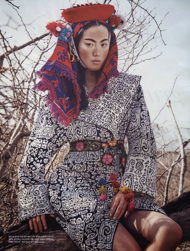 """""""Modern Africa"""" Lee Seung Hee in Celine by Kang Hye Won for Vogue Korea March 2014"""