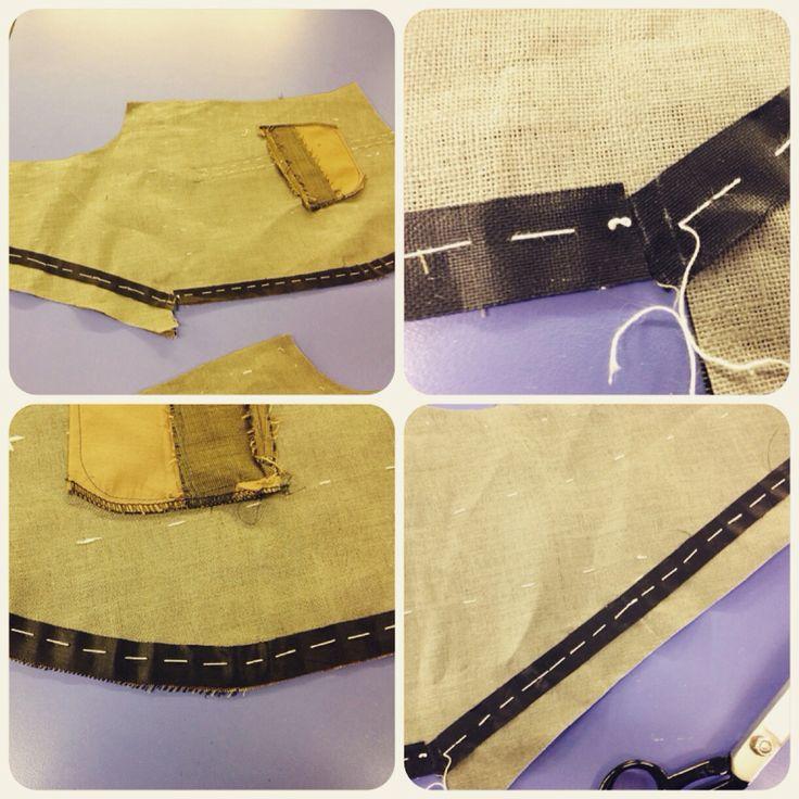 Waistcoat in progress