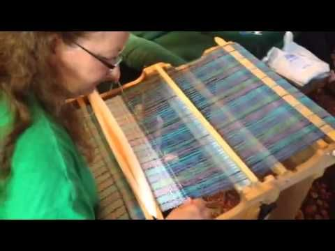 How to do a waffle weave on your rigid heddle loom.