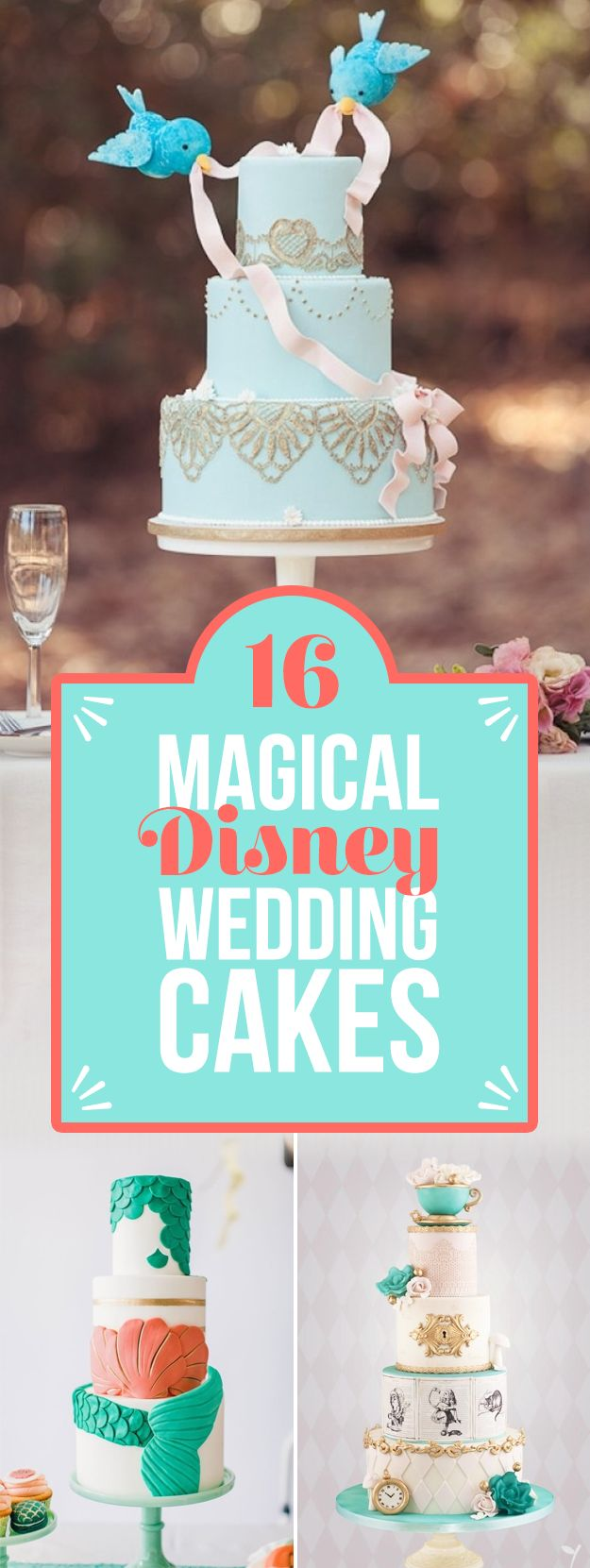 16 Perfect Disney Wedding Cakes You'll Want To Make Part Of Your World -   .