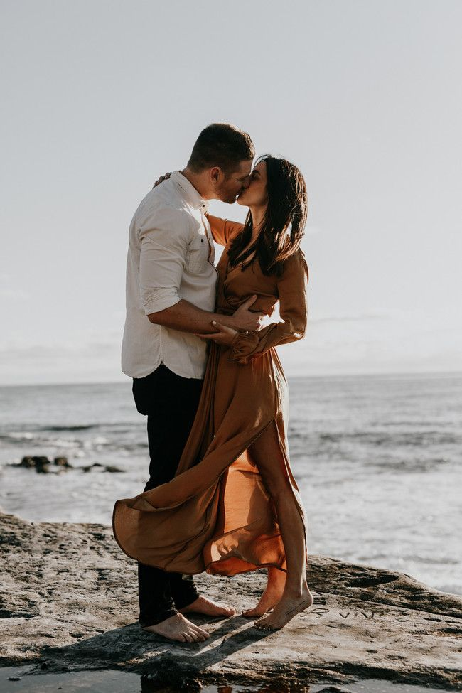 La Jolla Engagement Photos on The Beach
