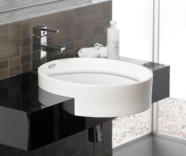 Surface Mount Sink : Round Semi Surface Mounted Sink Bathroom Fixtures Pinterest