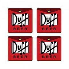 Porta Copos Magnético Duff 4 Unidades - Have Fun