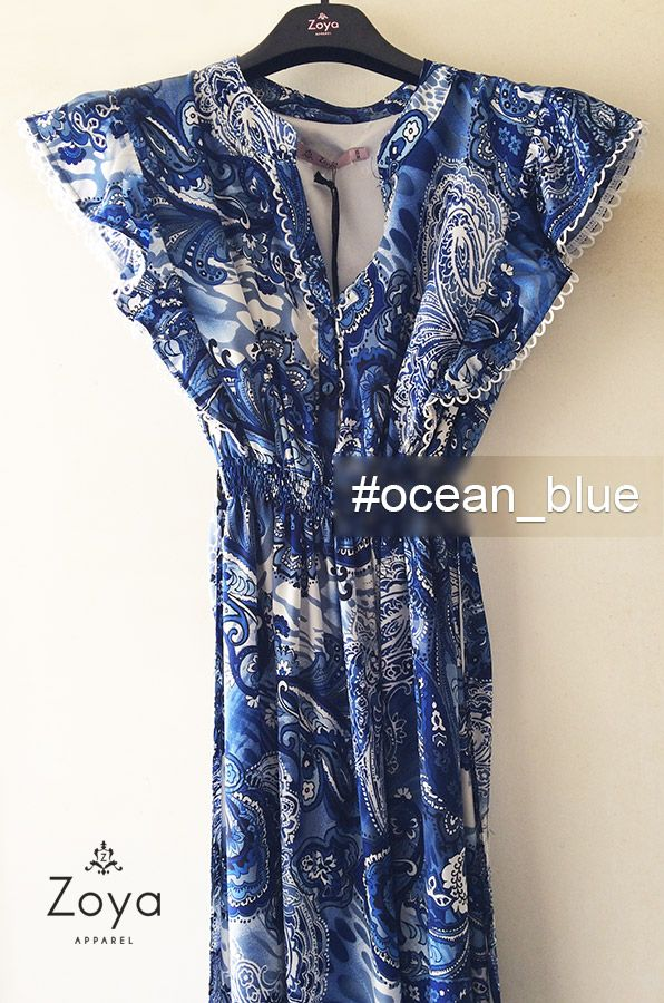 Maxi Dress Zoya, inspired by ocean blue color! #colors #ocen #blue #zoya #fashion #woman #ss2015 #ss15 #summer #style #dress #maxi