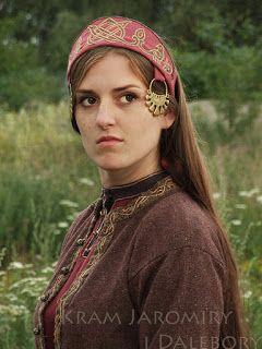 Russian headdress (Kokoshnik) with temple rings