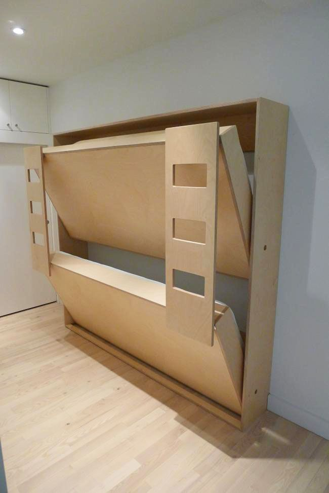 Double Murphy Bunk Beds For Kiddos Kids Bedroom Fold Up U0026 Fold Out Wood  Murphy Bunkbeds Wall Mounted Space Savers! Childrens Spaces Areas, Guest  Room, ... Part 52