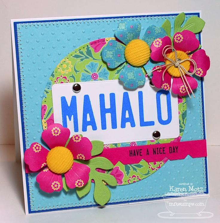 Paper Playhouse MFTeaser - Mahalo  sc 1 st  Pinterest & 18 best MFT vanity plate images on Pinterest | Licence plates ...