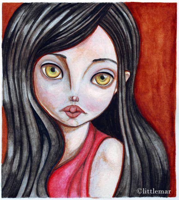 La oveja blanca by LittleMar.  #illustration #watercolor #artwork