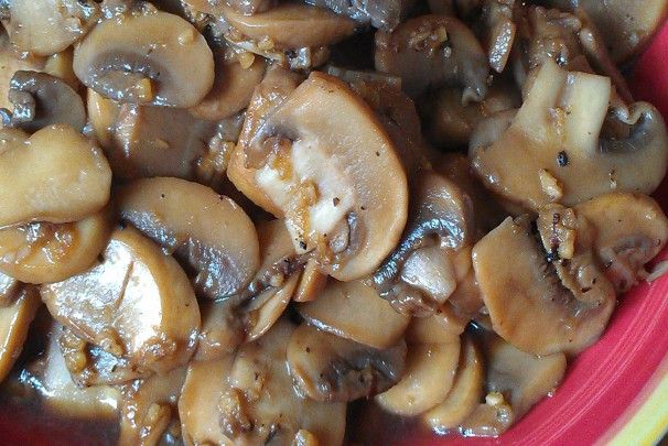 Sautéed mushrooms for steak topper - these were delicious