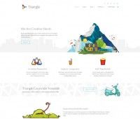 triangle free-responsive-multipurpose-template