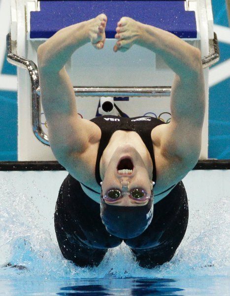 Olympics 2012:     Missy Franklin (Schwimmen, 100 Meter Rücken): Die 17-jährige US-Amerikanerin siegte im Finale in einer Zeit von 58,33 Sekunden und sicherte sich das erste olympische Gold ihrer Karriere.