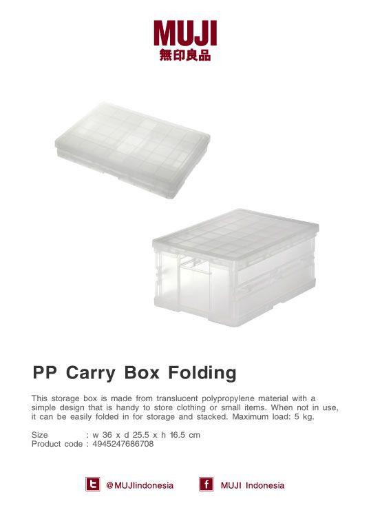 Safe your space at home with this foldable PP box when not in use. It's handy to store clothing or small items.