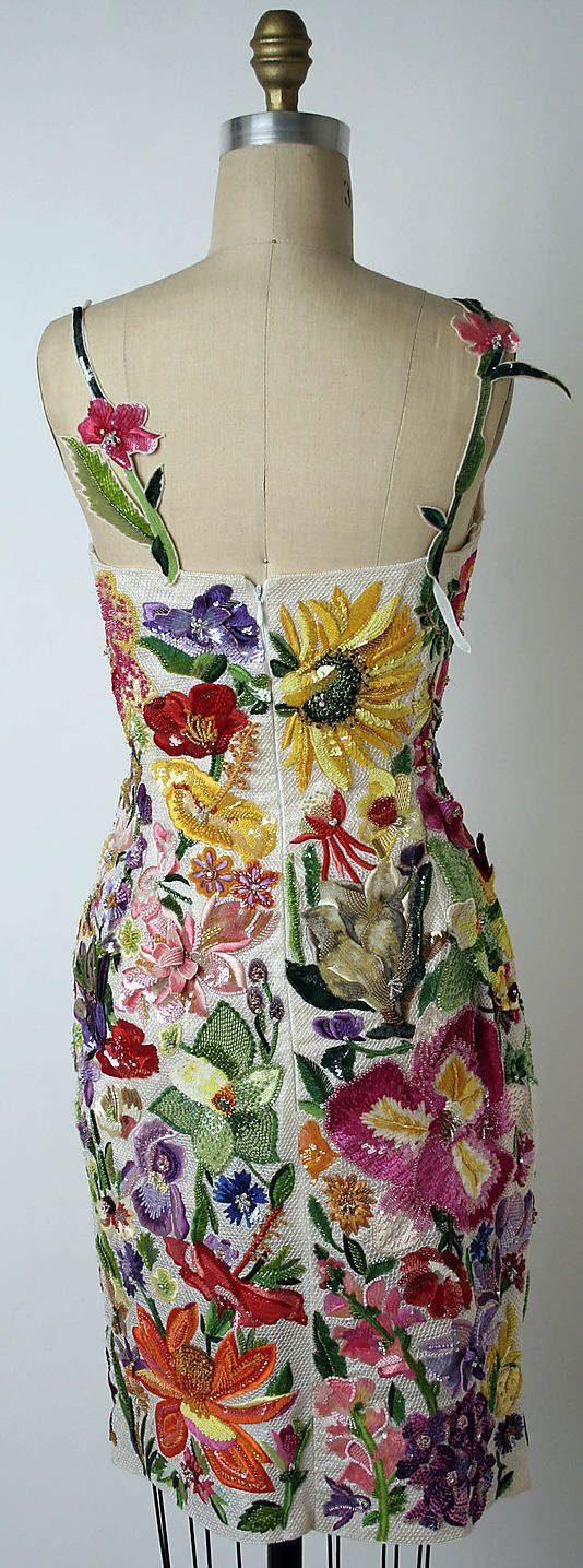 Ensemble.  Todd Oldham (American, born 1961).  Date: spring/summer 1996. Culture: American. Medium: (a) silk, linen, plastic; (b, c) leather, synthetic. Dimensions: Length at CB (a): 23 in. (58.4 cm). Heel to Toe (b, c): 9 1/2 in. (24.1 cm).
