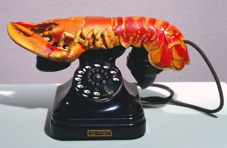 """hifas: """"Lobster Telephone, 1936 by Salvador Dalí """""""