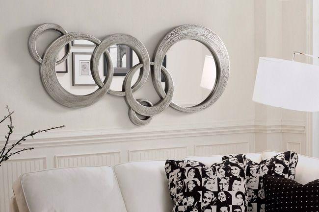 Espejos decorativos espejos de cristal espejos redondos for Espejos plateados para salon