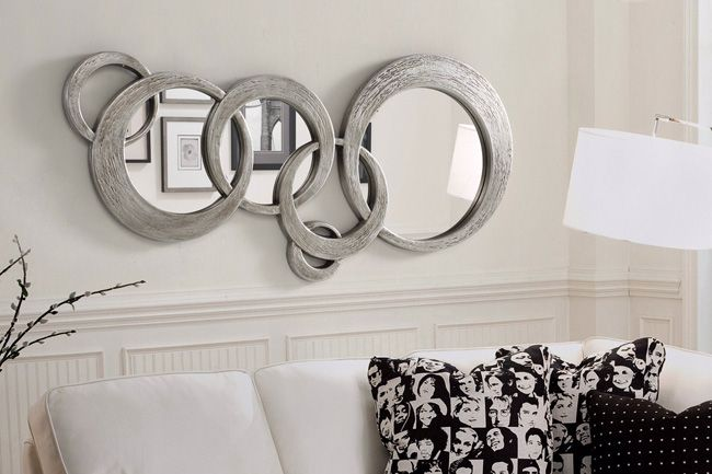 Espejos decorativos espejos de cristal espejos redondos for Espejos pared salon