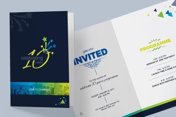 Corporate Invitation Card Design Template Instant Download Digital File Corporate Invitation Invitation Card Design Invitations