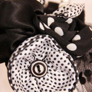 detail black satin fabric and black polka dot tulle on a teardrop-shaped base, decorated with black and white polka dots and black fabric flowers and details from white beads. - See more at: http://www.whereisthecat.gr/products/fascinator/black-satin-fascinator-hat-in-teardrop-shape-with-tulle/#sthash.IxkqCgwt.dpuf