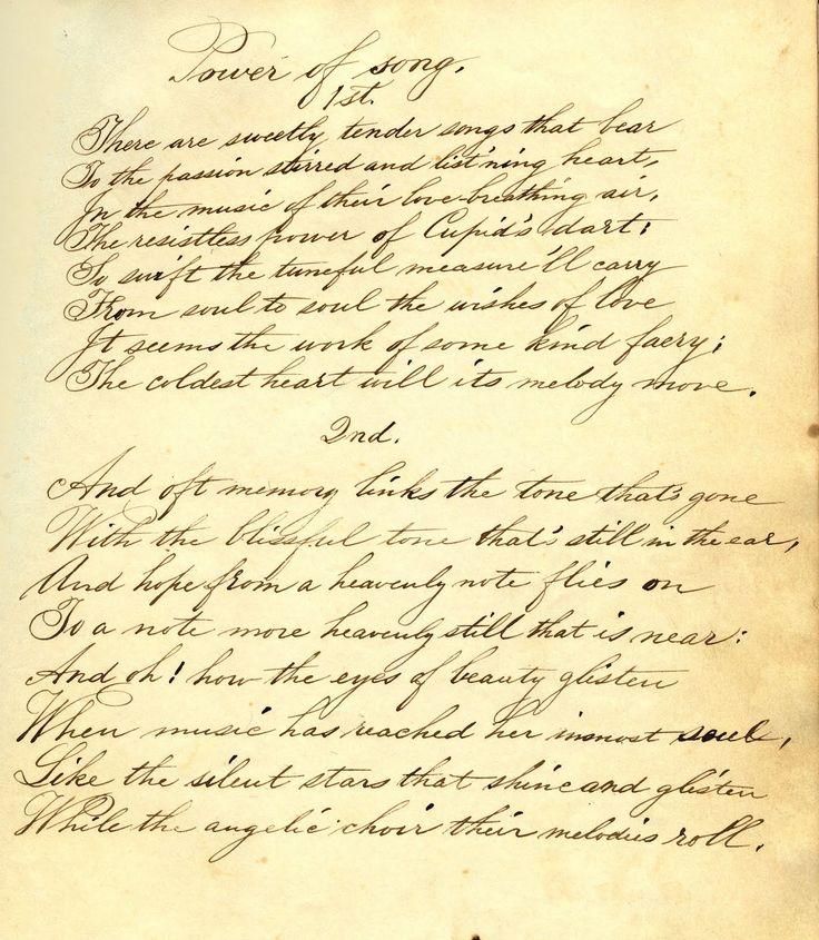 Gorgeous Vintage Ephemera Handwritten Poem