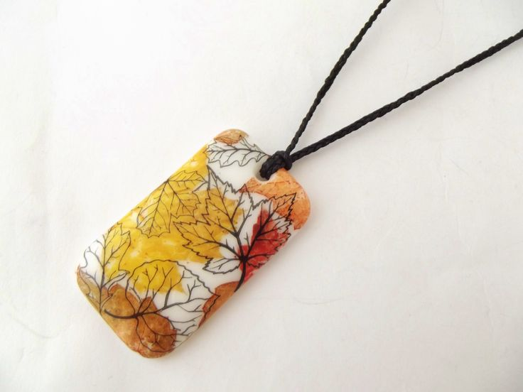 One of my new layered design pendants, Autumn leaves.  www.lustregallery.co.nz