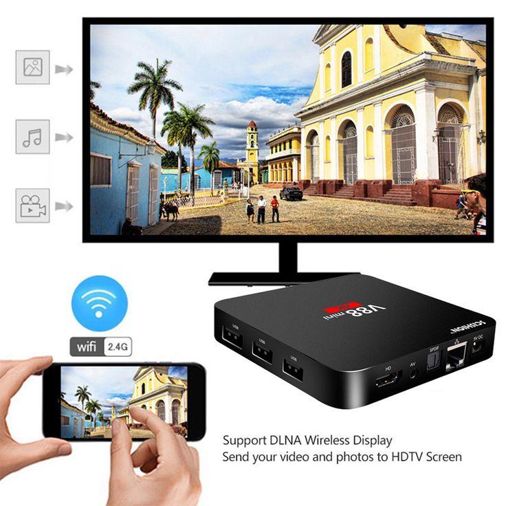 SCISHION V88 mini Smart TV Box Android 6.0 Smart Set-top Box RK3229 Quad-Core 1G/8G WIFI 4K 1080P HDMI 3D HD Media Player PK X96 //Price: $32.39//     #storecharger